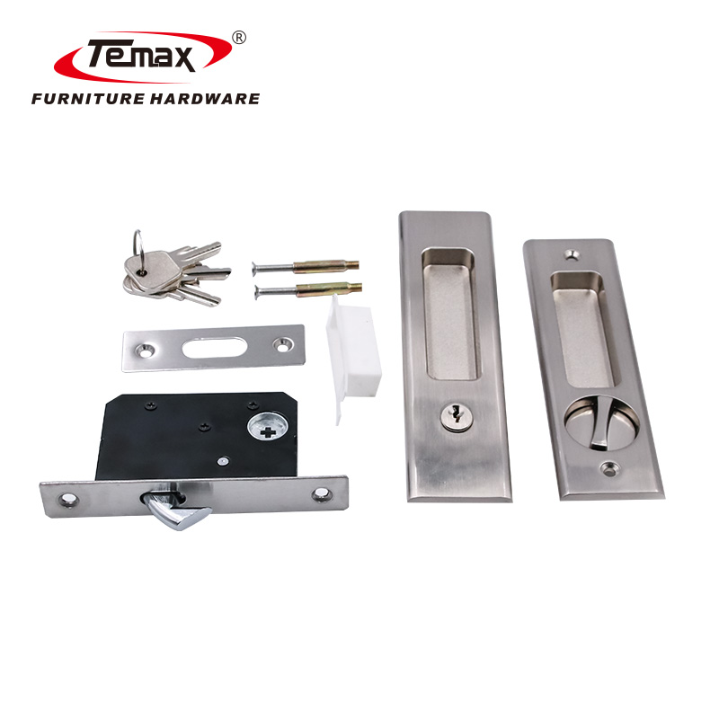 Zinc Alloy Rectangle Wooden or Metal Sliding Door Lock LY002