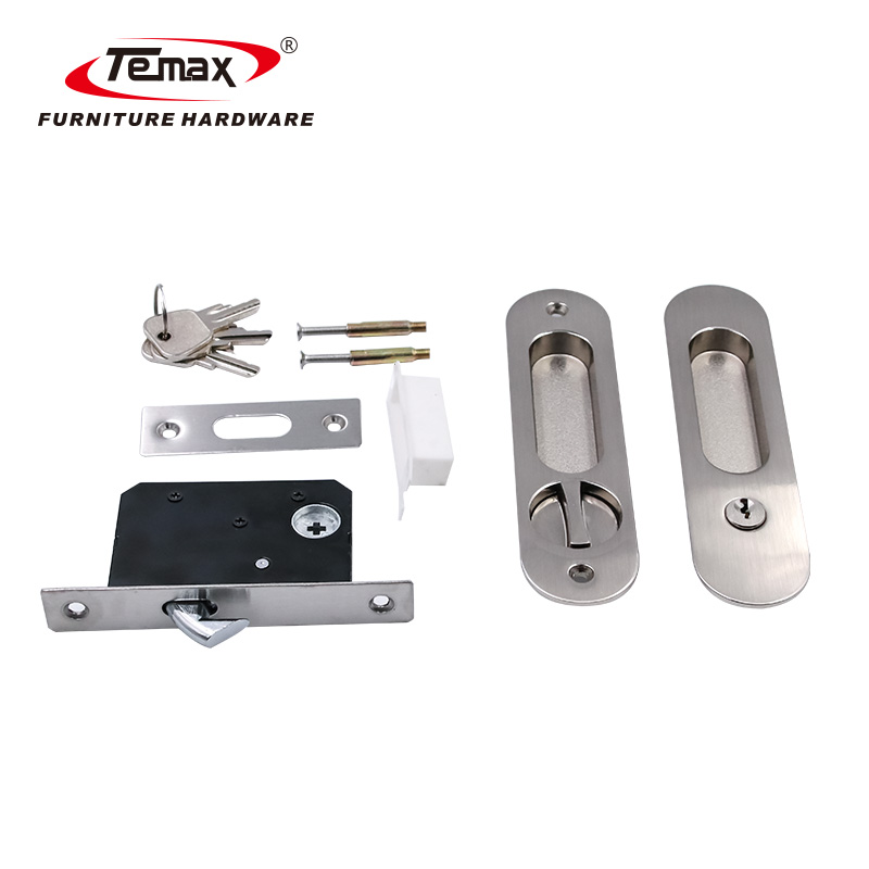 Zinc Alloy Rounded Rectangle Wooden or Metal Sliding Door Lock LY001