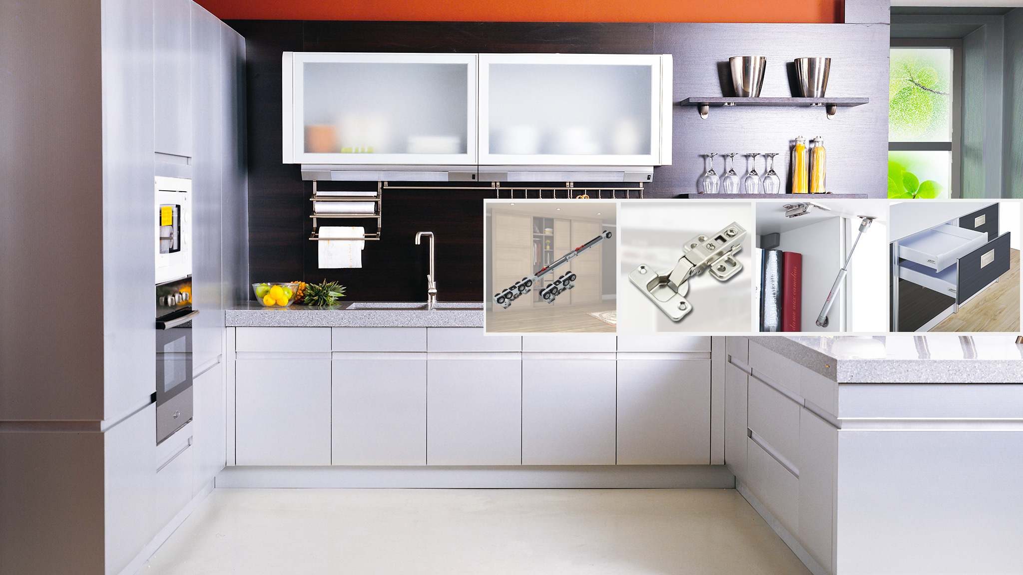 modern convenient kitchen furniture hardware