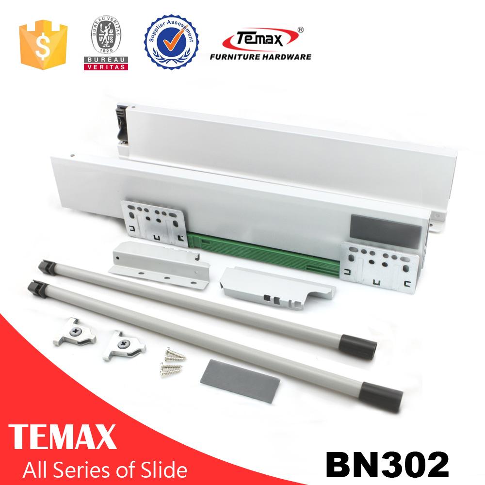 धातु बॉक्स / टंडेम बॉक्स दराज रेल दराज पंपिंग स्लाइड