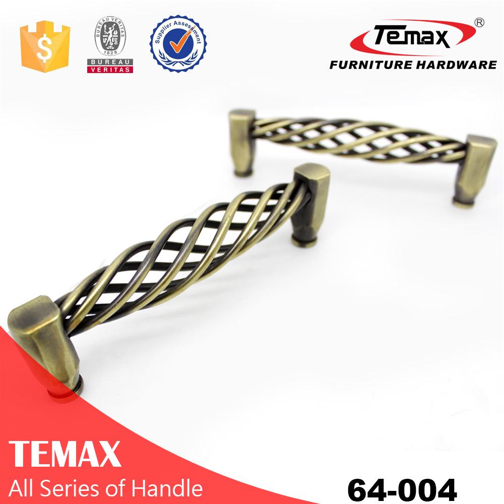 Shanghai Temax steel brass color U shaped furniture cabinet pull handle
