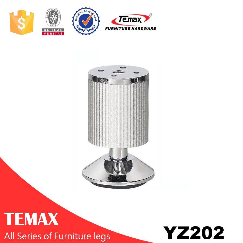 YZ202 zinc alloy + aluminium top end furniture feet and legs