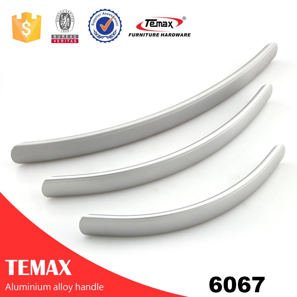 6067 Mango de tirador en forma de mango de aluminio en forma de hardware en forma de l