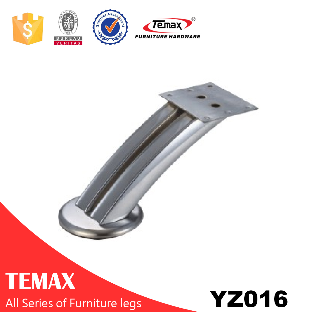 YZ016 zinc alloy chrome plated furniture table leg