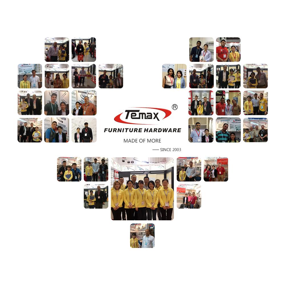 Temax Furniture Hardware Team mit Kunden