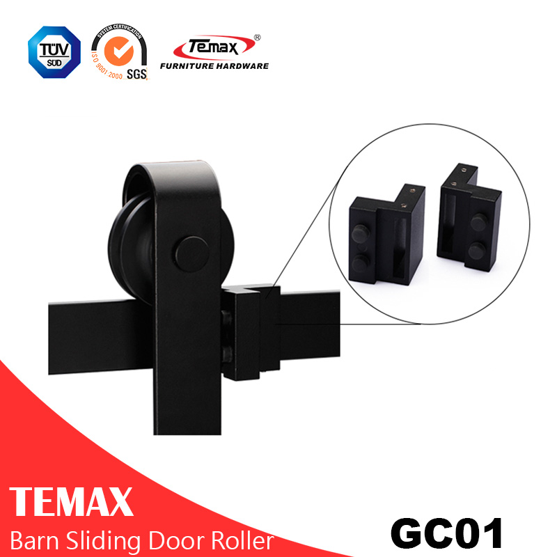 Gc01 Black Interior Sliding Barn Door Hardware China Gc01 Black Interior Sliding Barn Door