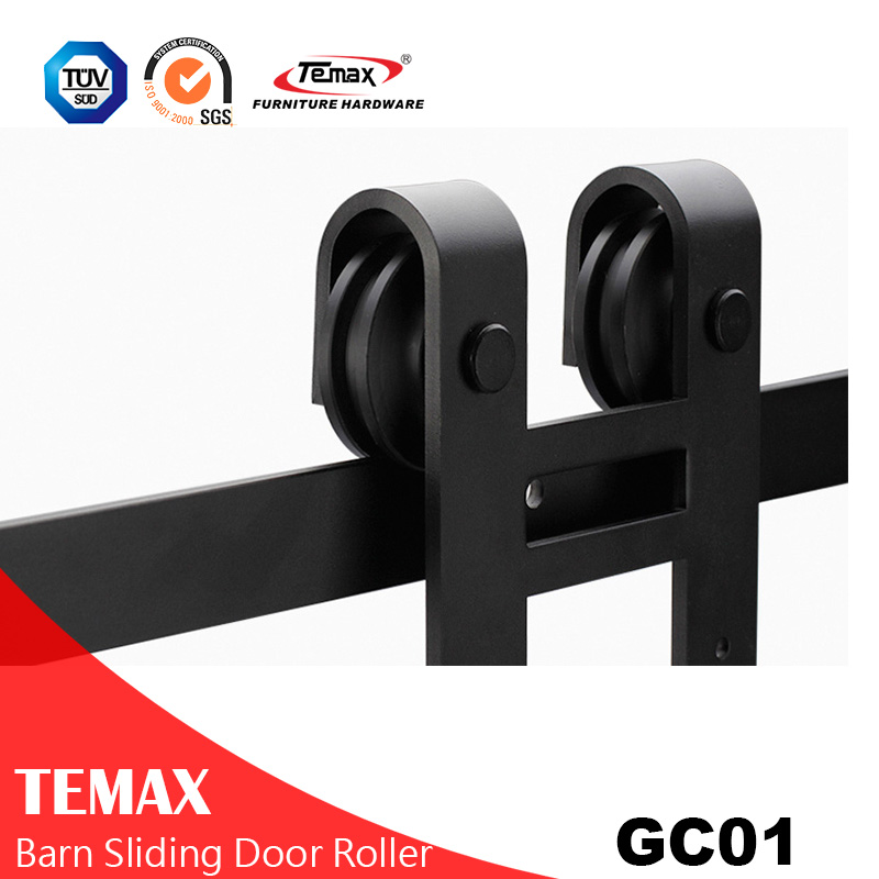 GC01 Black Interior Sliding Barn Door Hardware