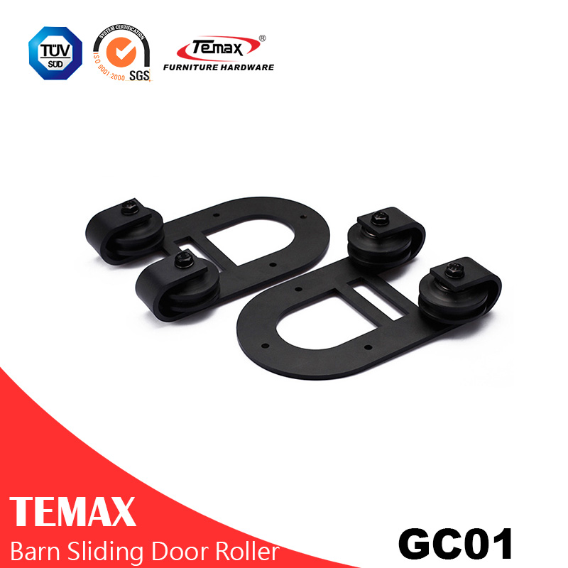 GC01 Black Interior Sliding Barn Door Hardware