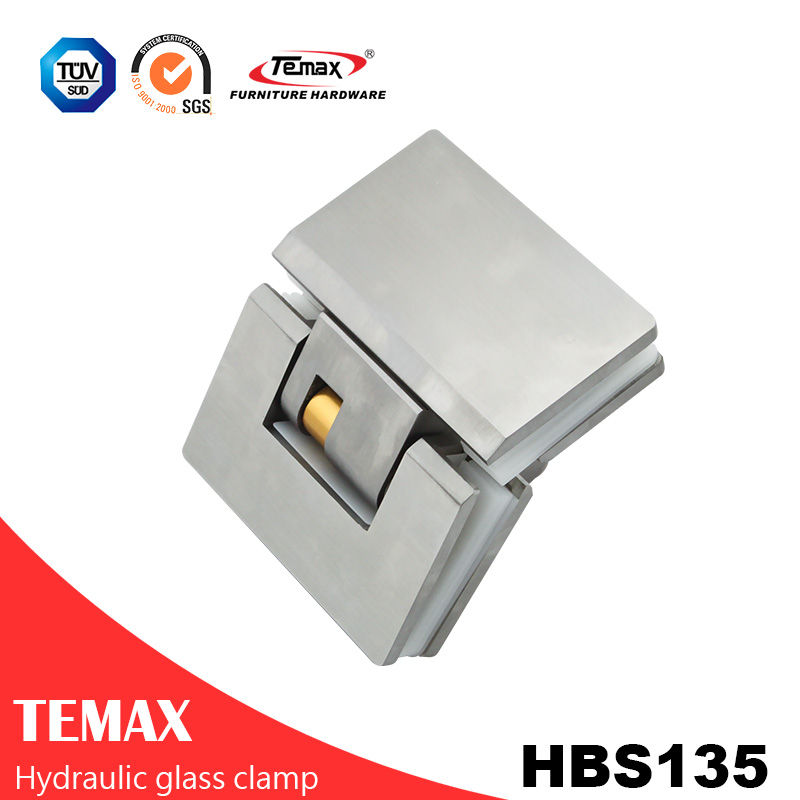 135 Degree Stainless Steel Glass Cabinet Door Hardware