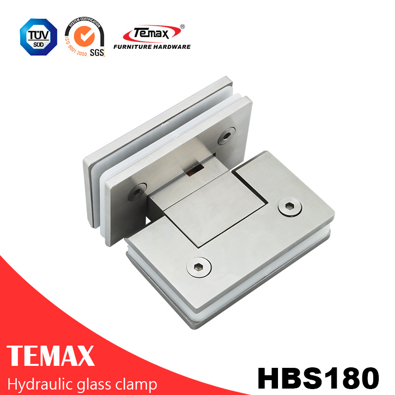180 Degree Stainless Steel Glass Door Clamp Hinges