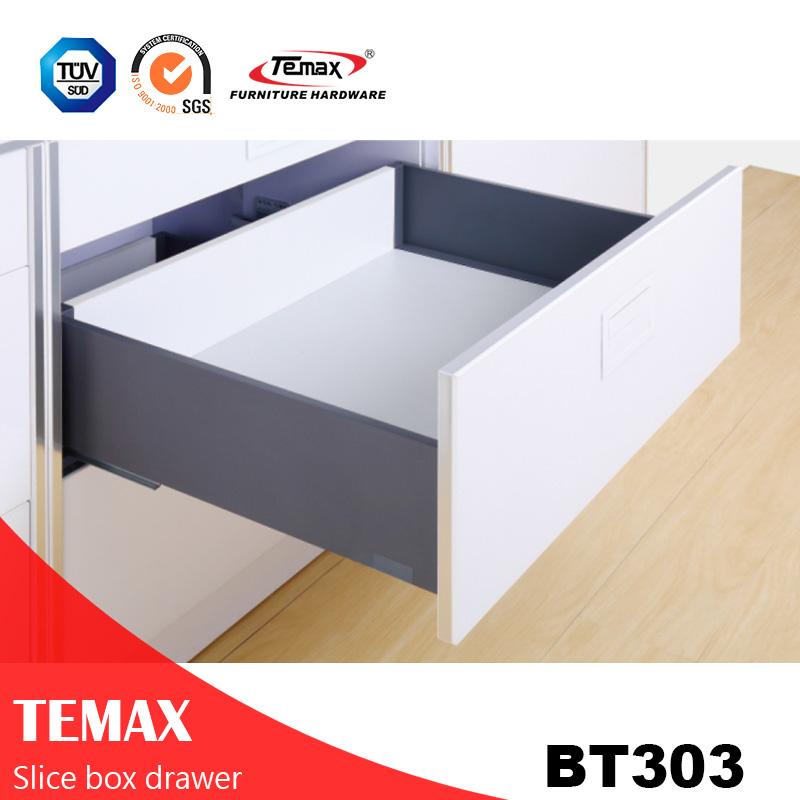 BT303 مماثلة المطبخ درج معدني مربع نوع شريحة
