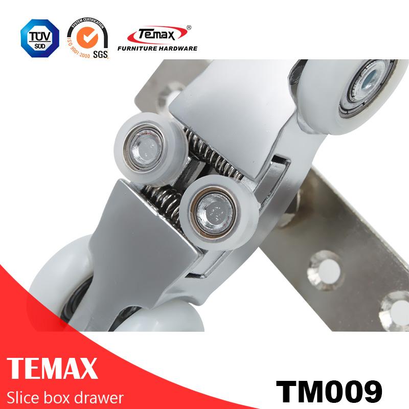 TM009 شنقا جيب انزلاق الأسطوانة الباب نظام المسار