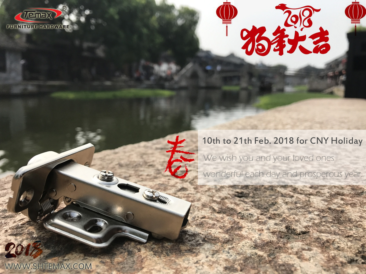 TEMAX HARDWARE 10th to 21th Feb. 2018 for CNY Holiday