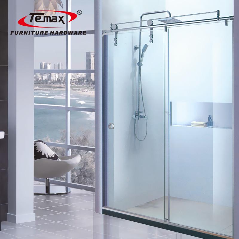 دوش شیشه ای داخلی درب غلطک / درب حمام غلتک غلتکی