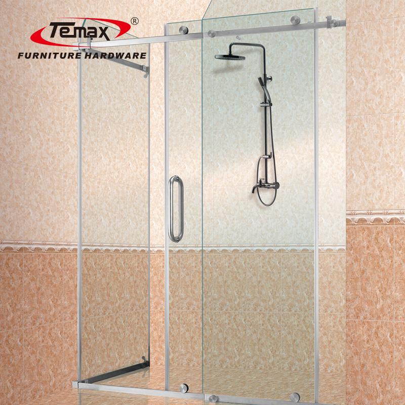 Neues Design gehärtetes Glas rahmenlose Schiebedusche Tür