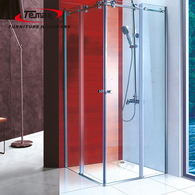 Temax neue rahmenlos große Rolle Schiebt gehärtete Glas Duschtür