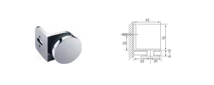 180 درجة الفولاذ المقاوم للصدأ الصب الزجاج بدون إطار إلى الزجاج أنبوب باب دش