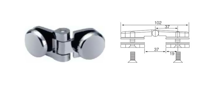 الفولاذ المقاوم للصدأ 180 درجة الزجاج المشبك دش باب المفصلي