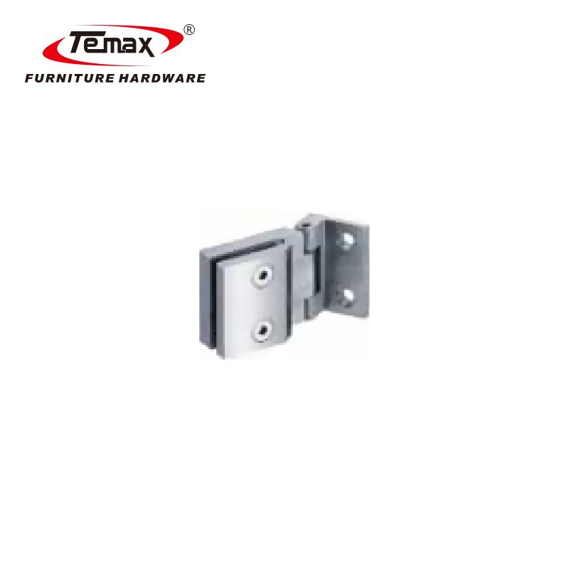 Temax سخت افزار حمام سنگین لولا درب شیشه ای حمام محور