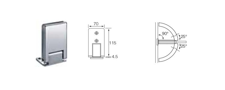 TEMAX مربع من الزجاج الثقيلة باب حديدي مشبك