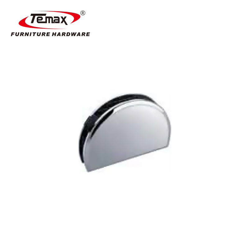 Temax 180 درجة العادية زجاج دش الباب يتوقف