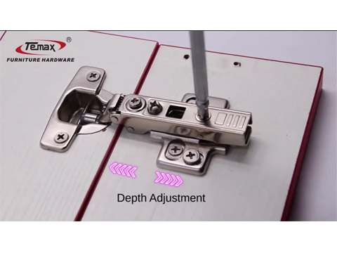 What is TEMAX 4D adjustment hydraulic hinge?Use cabinet and furniture door
