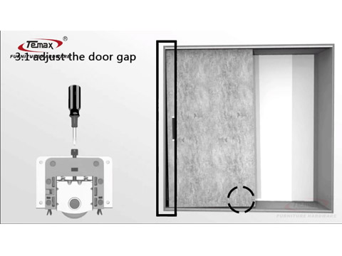 How to install TEMAX soft closing visible sliding door roller for cabinet wardrobe