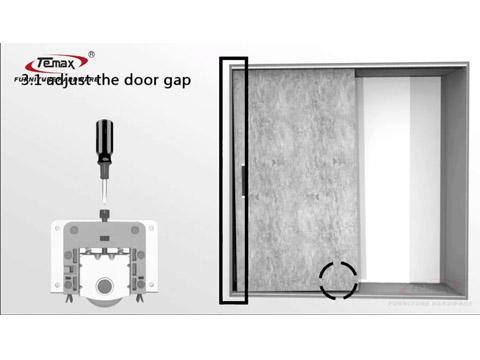 چگونه به نصب نرم TEMAX بسته شدن قابل مشاهده کشویی غلتکی درب برای کمد لباس کابینه