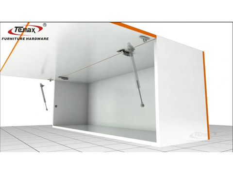 How Use to TEMAX cs29 gas spring cabinet support with dampe?