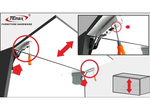 چگونه استفاده برای TEMAX FS100 درب سیستم پشتیبانی کابینه اقامت?