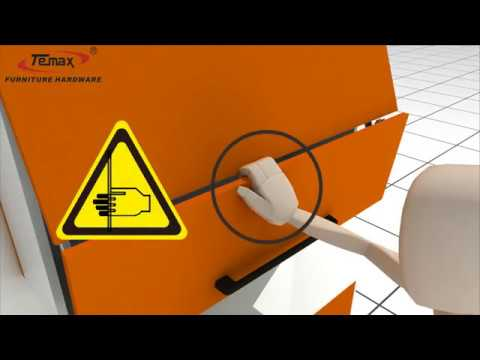 How to use cabinet folding door lift system TEMAX FS227
