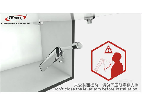 How use to free stop lift system Lid Stay cabinet support TEMAX FS083