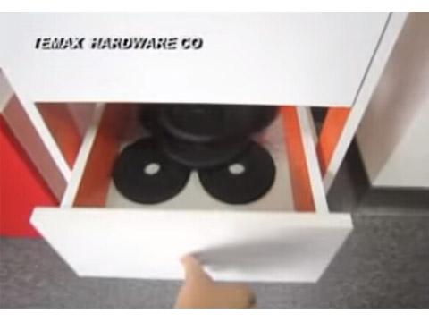 DP451 Push Open Ball Bearing Cabinet Drawer Slides