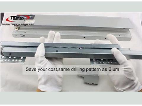 BB301 Temax Soft Close Metal Box Drawer Slides for Kitchen Cabinet