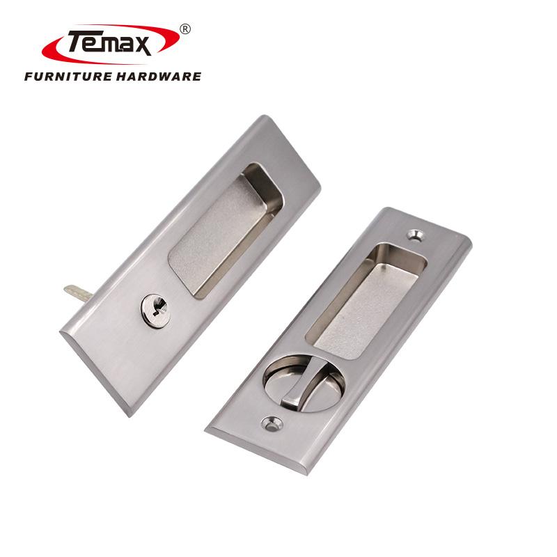 Zinc Alloy Rectangle Wooden or Metal Sliding Door Lock LY002