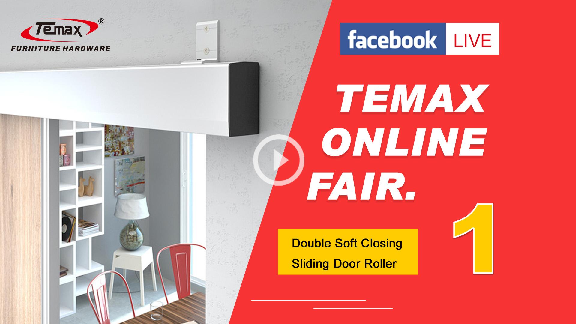 Facebook live double soft closing sliding door roller 1