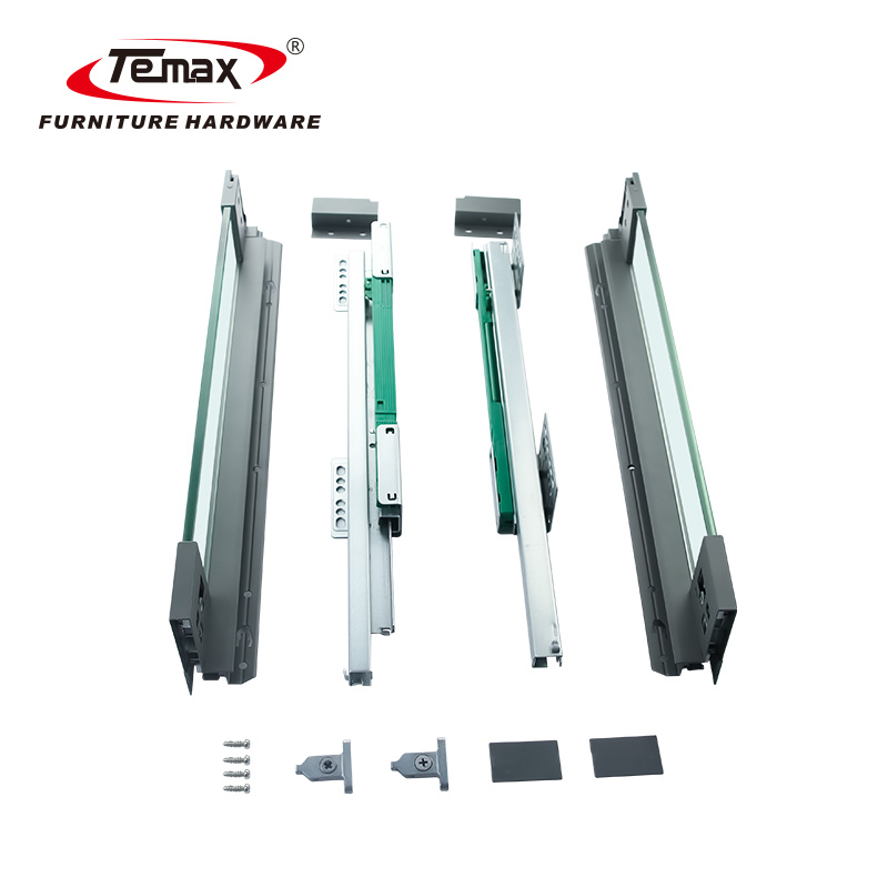 Temax cabinet soft close heavy duty telescopic drawer slides slim box BT3011G